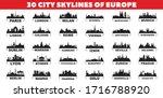 30 City Skyline Silhouettes...