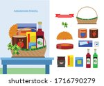 ramadhan parcel with snack... | Shutterstock .eps vector #1716790279