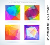 set of abstract 3d geometric... | Shutterstock .eps vector #171679394