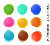 empty abstract vector colorful... | Shutterstock .eps vector #1716797569