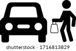 curb side delivery illustrative ... | Shutterstock .eps vector #1716813829