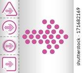 arrows icon set on sticker...   Shutterstock .eps vector #171682169