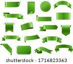 green ribbon and tags isolated... | Shutterstock .eps vector #1716823363