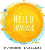 hello summer poster speech... | Shutterstock .eps vector #1716823366