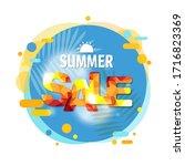 summer sale banner speech... | Shutterstock . vector #1716823369