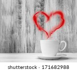 mug for lovers. white cup with... | Shutterstock . vector #171682988