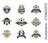 football team emblems templates ... | Shutterstock .eps vector #1716832573