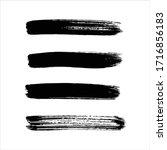 art black ink abstract brush... | Shutterstock .eps vector #1716856183