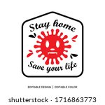 stay home save your life  ... | Shutterstock .eps vector #1716863773