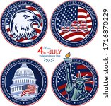 american eagle patriotic logo.... | Shutterstock .eps vector #1716870229