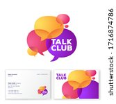talk club logo. language school ... | Shutterstock .eps vector #1716874786