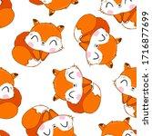 fox pattern. vector...   Shutterstock .eps vector #1716877699