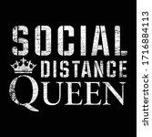 corona virus social awareness... | Shutterstock .eps vector #1716884113