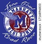 manhattan college and...   Shutterstock .eps vector #1716896833