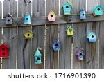 Assorted Colored Birdhouses...