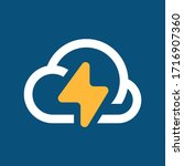 cloud logo design weather... | Shutterstock .eps vector #1716907360