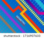 abstract colorful geometric... | Shutterstock .eps vector #1716907633