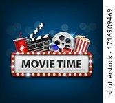 cinema background concept ...   Shutterstock .eps vector #1716909469