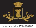 a coat of arms crest heraldic... | Shutterstock .eps vector #1716918100