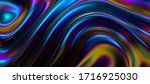 iridescent surface with wavy... | Shutterstock .eps vector #1716925030