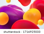 colorful flowing bubbles.... | Shutterstock .eps vector #1716925033