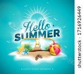 vector hello summer holiday... | Shutterstock .eps vector #1716926449