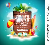 summer sale design with exotic... | Shutterstock .eps vector #1716926623