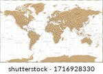 world map vintage golden... | Shutterstock .eps vector #1716928330