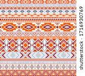 aztec american indian pattern...   Shutterstock .eps vector #1716930769