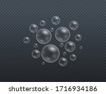 set of realistic colorful soap... | Shutterstock .eps vector #1716934186