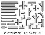 set of details pipes different... | Shutterstock .eps vector #1716954103