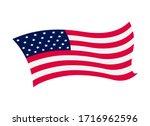 waving flag of the united... | Shutterstock .eps vector #1716962596
