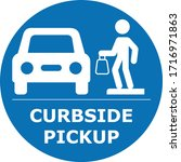 curbside pickup illustrated... | Shutterstock .eps vector #1716971863