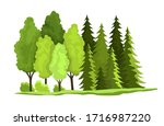 green forest. vector...   Shutterstock .eps vector #1716987220