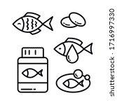 Omega 3 Icon Logo Design. Fish...