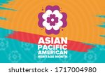 asian pacific american heritage ...   Shutterstock .eps vector #1717004980