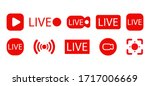set of live streaming icons.... | Shutterstock .eps vector #1717006669