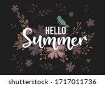 hello summer hand sketched... | Shutterstock .eps vector #1717011736