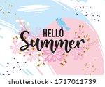 hello summer hand sketched... | Shutterstock .eps vector #1717011739