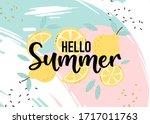 hello summer hand sketched... | Shutterstock .eps vector #1717011763
