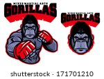 mma fighter gorilla | Shutterstock .eps vector #171701210