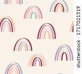 trendy gestural rainbow repeat... | Shutterstock .eps vector #1717021519