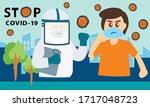 vector of medical team using... | Shutterstock .eps vector #1717048723