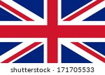 british union jack flag... | Shutterstock . vector #171705533