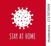 coronavirus poster isolated red ... | Shutterstock . vector #1717073509