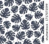 vintage tropical monstera... | Shutterstock .eps vector #1717073599