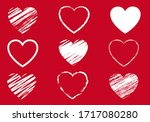 red hearts symbol set isolated... | Shutterstock .eps vector #1717080280