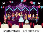 people musicians perform at a... | Shutterstock .eps vector #1717096549