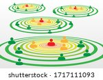 people silhouette symbols in... | Shutterstock .eps vector #1717111093