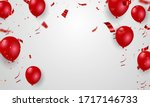 red balloons confetti concept... | Shutterstock .eps vector #1717146733
